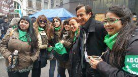 Lipoveztky en una marcha por la legalización del aborto - Crédito:@Lipovetzky