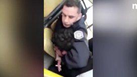 Brutal agresión de un policía a un colectivero en Florencio Varela