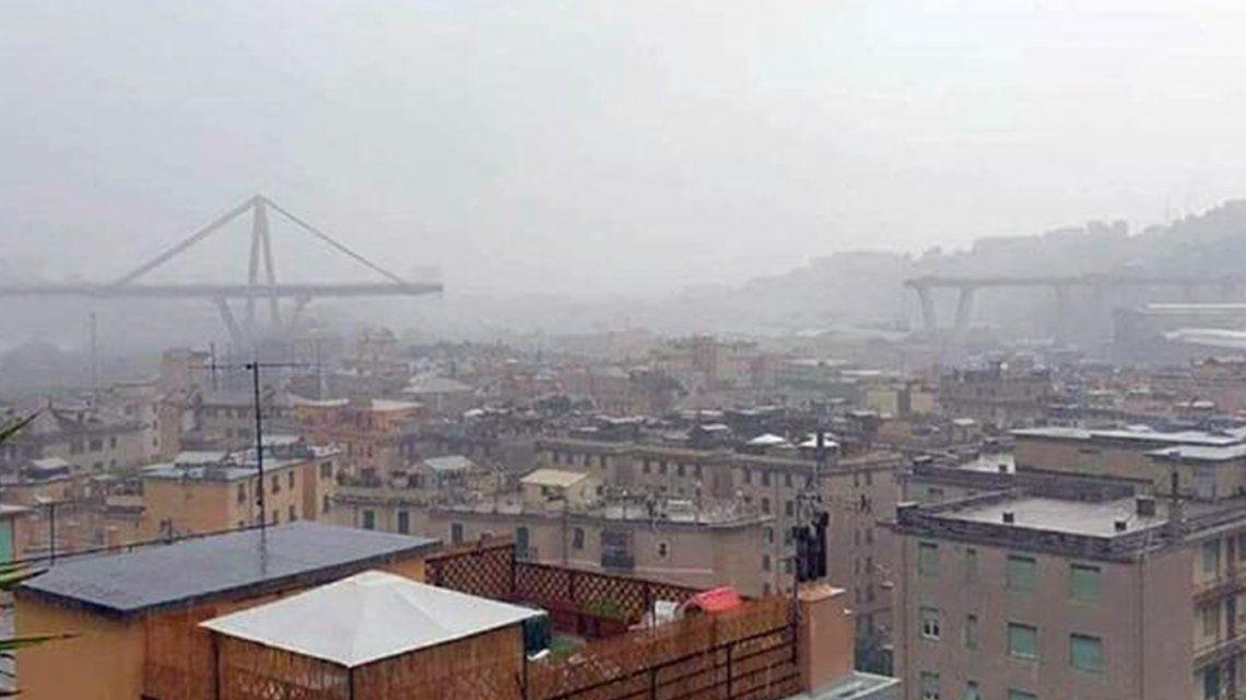 Tragedia en Italia: se cayó un puente de 90 metros y hay al menos 35 muertos