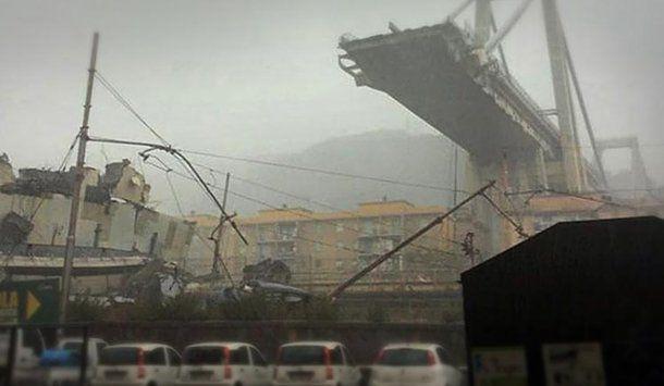Así fue el derrumbe en Génova