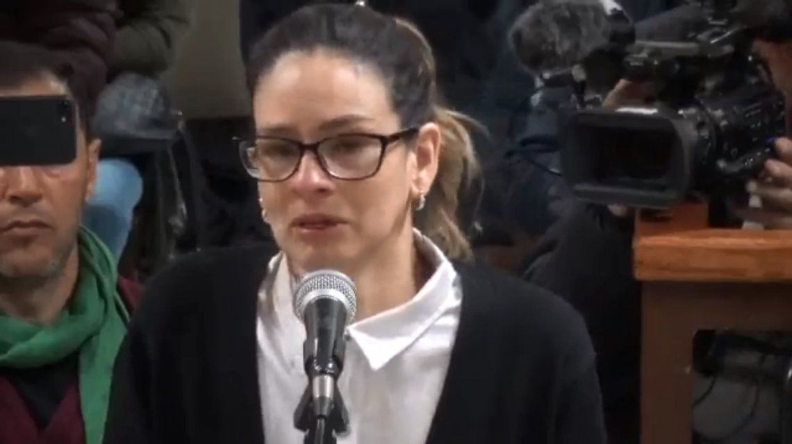 Julieta Silva declara en el juicio en su contra por haber matado a su novio rugbier