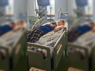 Stephanie, de 15 años, le dijo adiós a su novio, Blake, de 16