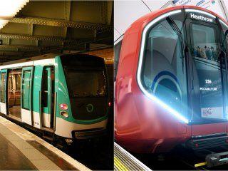 Metro de París y Underground de Londres