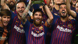 Lionel Messi y la Supercopa de España, su primer trofeo como capitán
