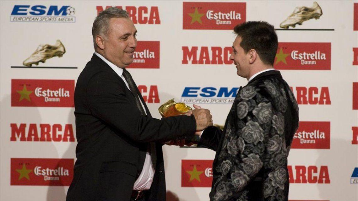 Hristo Stoichkov y Lionel Messi
