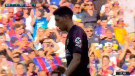VIDEO: La mala reacción de Andrada le sirvió el primer gol a Barcelona ante Boca