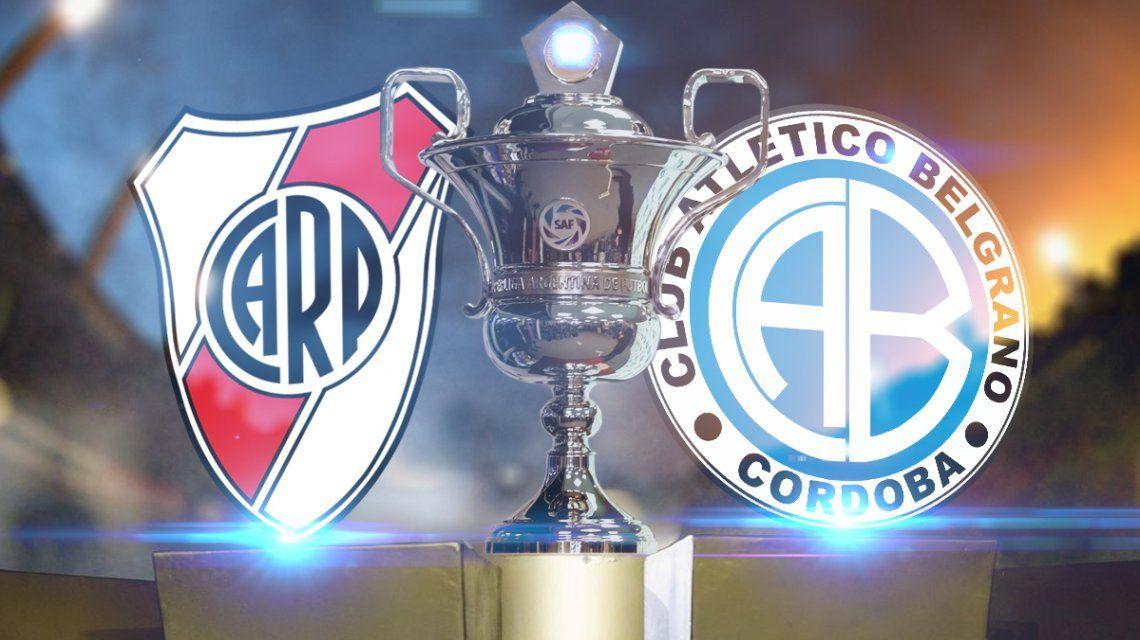 River vs. Belgrano por la Superliga: horario, formaciones y TV