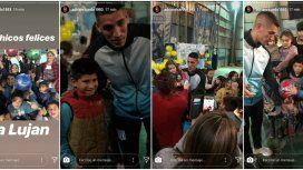Centurión celebró el Día del Niño con los chicos de su barrio