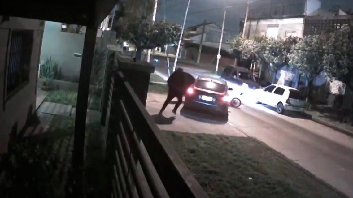Un motochorro y un violento intento de robo que terminó saliéndole mal