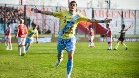 Leandro González celebra uno de los dos goles