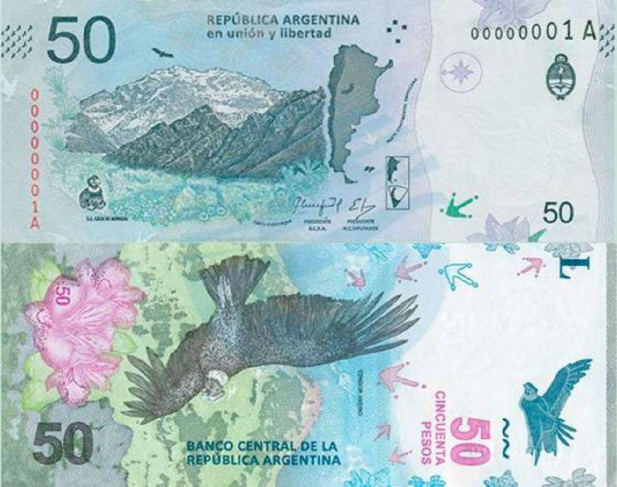 El nuevo billete de 50 pesos