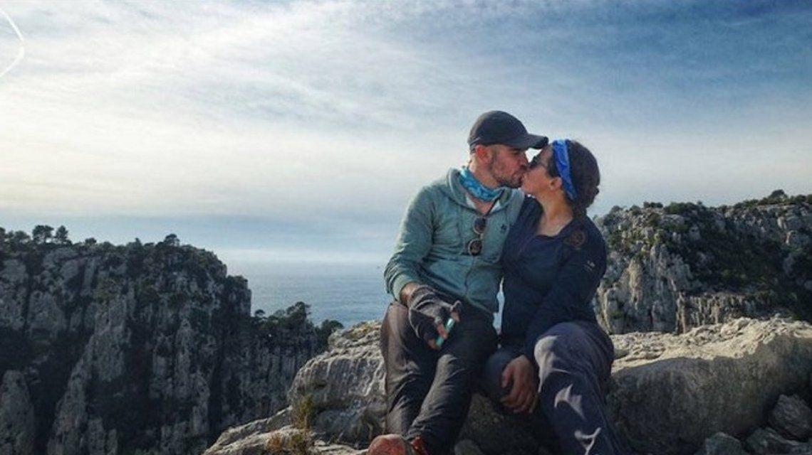 Jay Austin y Lauren Geoghegan en la cima del mundo (Instagram)