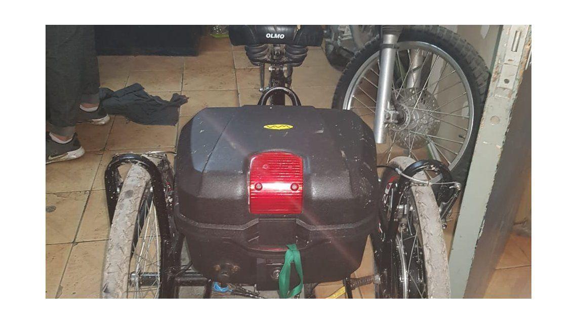 La bicicleta había sido adaptada por estudiantes de la Escuela Técnica Otto Krause.