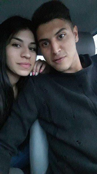 Exequiel Palacios y su novia