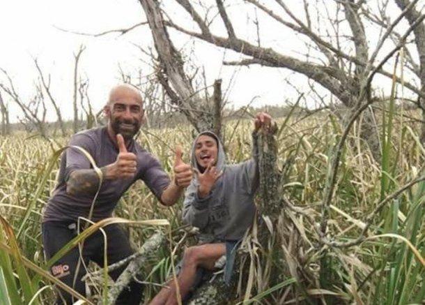 Lucas y Enzo, los pescadores perdidos.