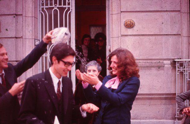 Daniel Mariani y Diana Teruggi cuando se casaron en La Plata<br>