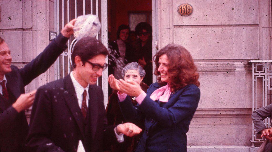 Daniel Mariani y Diana Teruggi cuando se casaron en La Plata