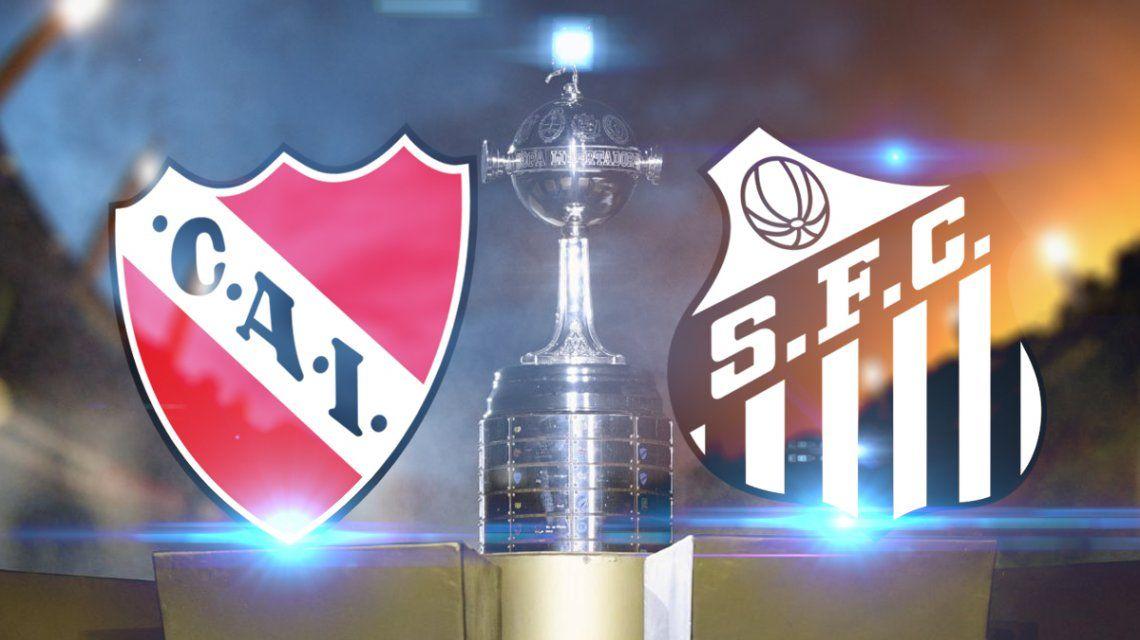 Independiente vs. Santos por los octavos de final de la Libertadores: horario, formaciones y TV