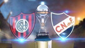 San Lorenzo - Nacional de Montevideo por Copa Sudamericana: horario