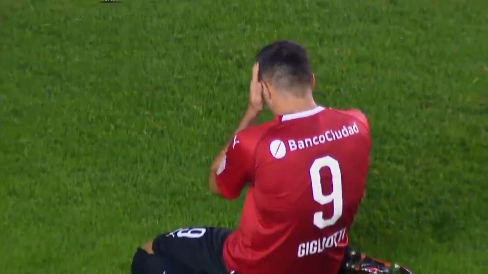 Gigliotti se perdió un gol cantado