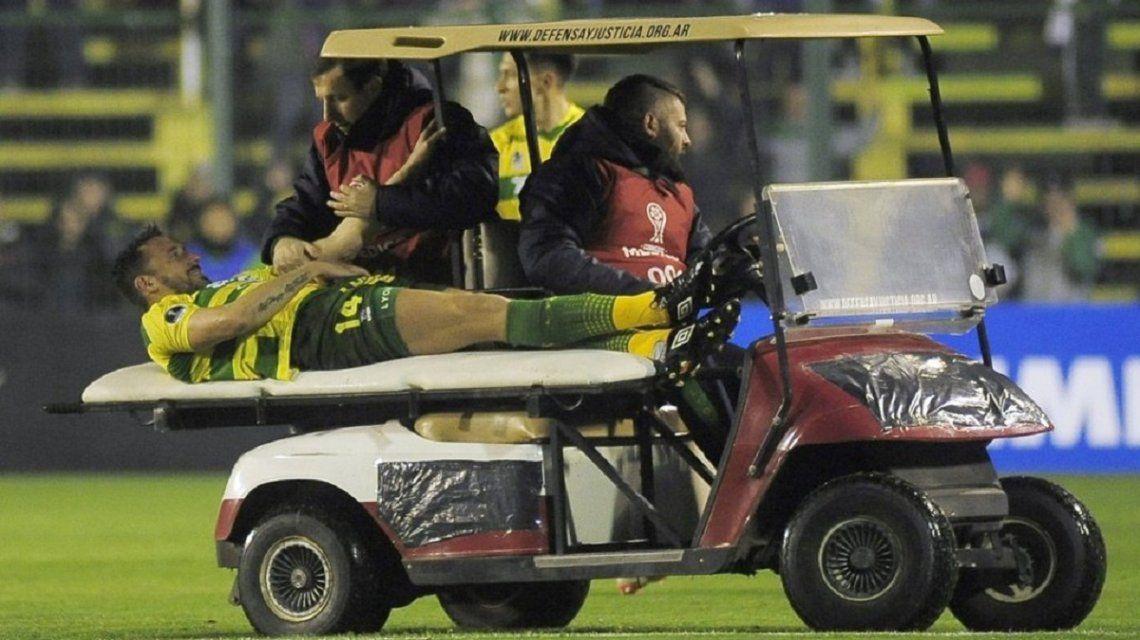 Jonas Gutiérrez se retira lesionado