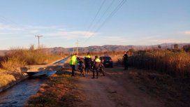 En este monte encontraron el auto y metros después, el cuerpo de la mujer