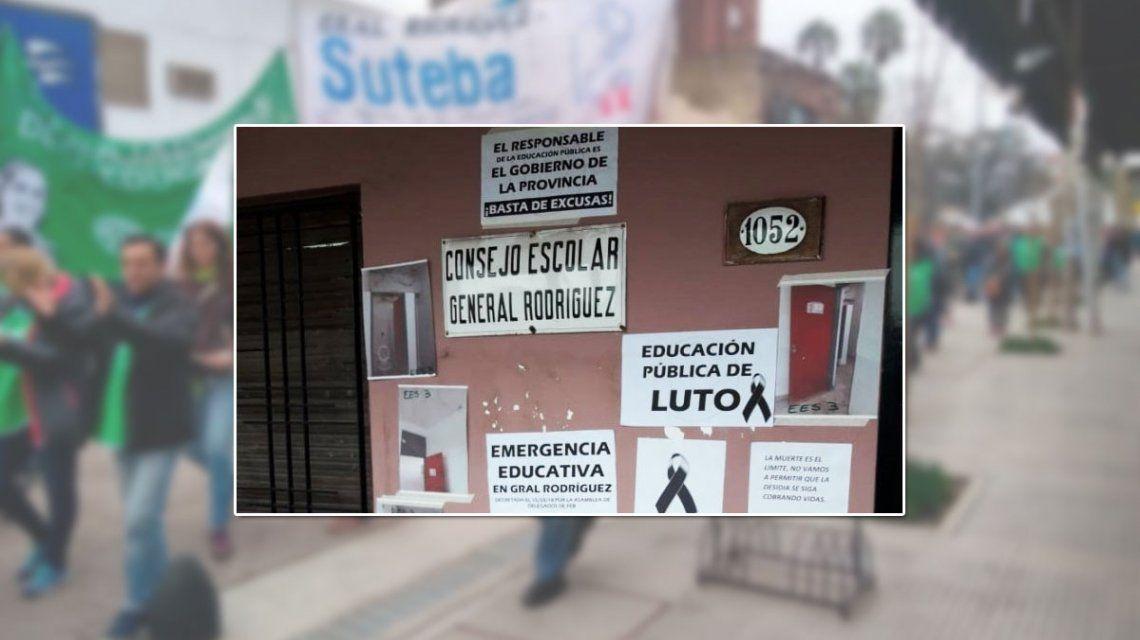 General Rodríguez, sin clases hasta que los docentes tengan edificios dignos