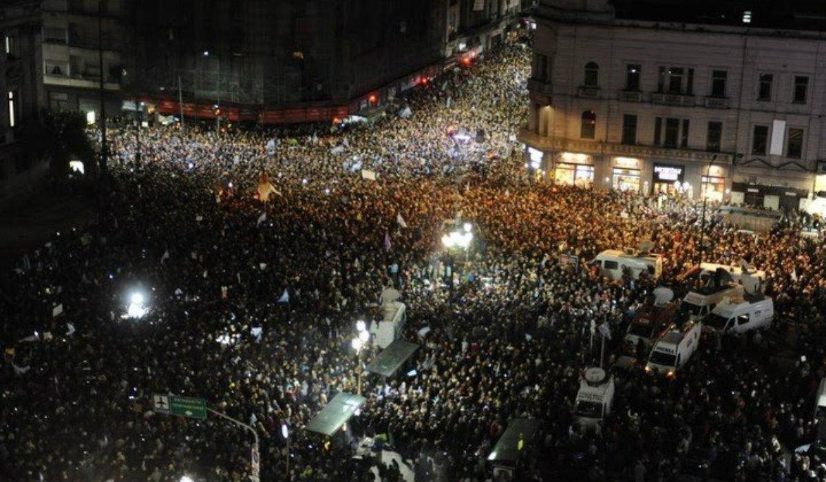 La grieta al rojo vivo: así fue la marcha que pedía el desafuero de Cristina Kirchner