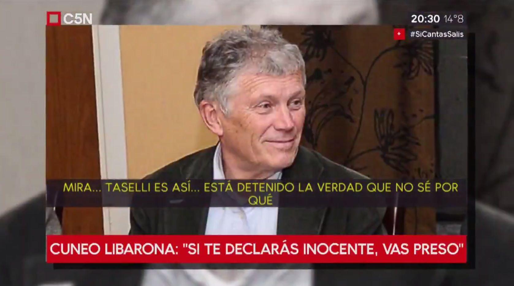 Mariano Cúneo Libarona habló de su defendido Sergio Taselli
