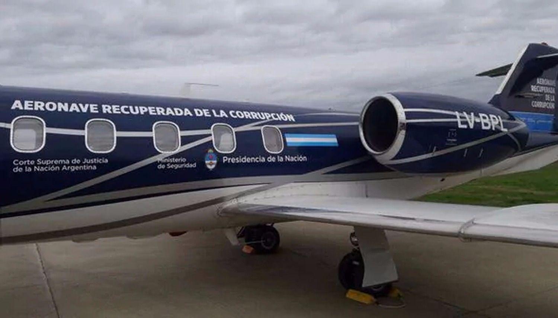 Aeronave recuperada de la corrupción