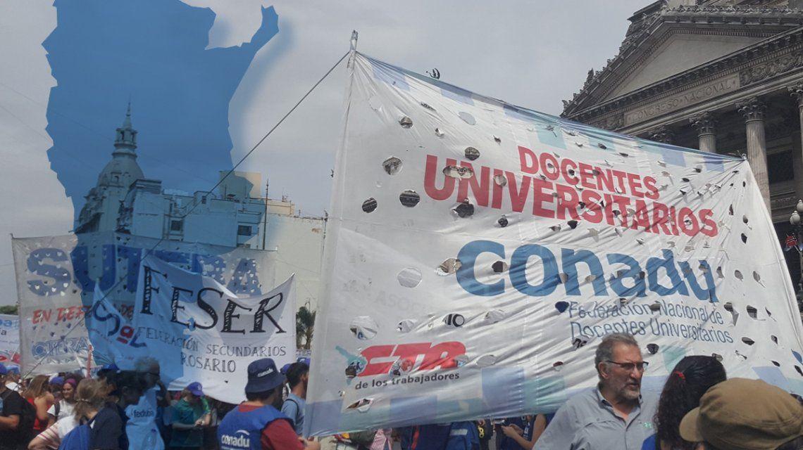 VIDEO: Las universidades del país paralizadas y el Gobierno retiró la oferta del 15% de aumento a los docentes