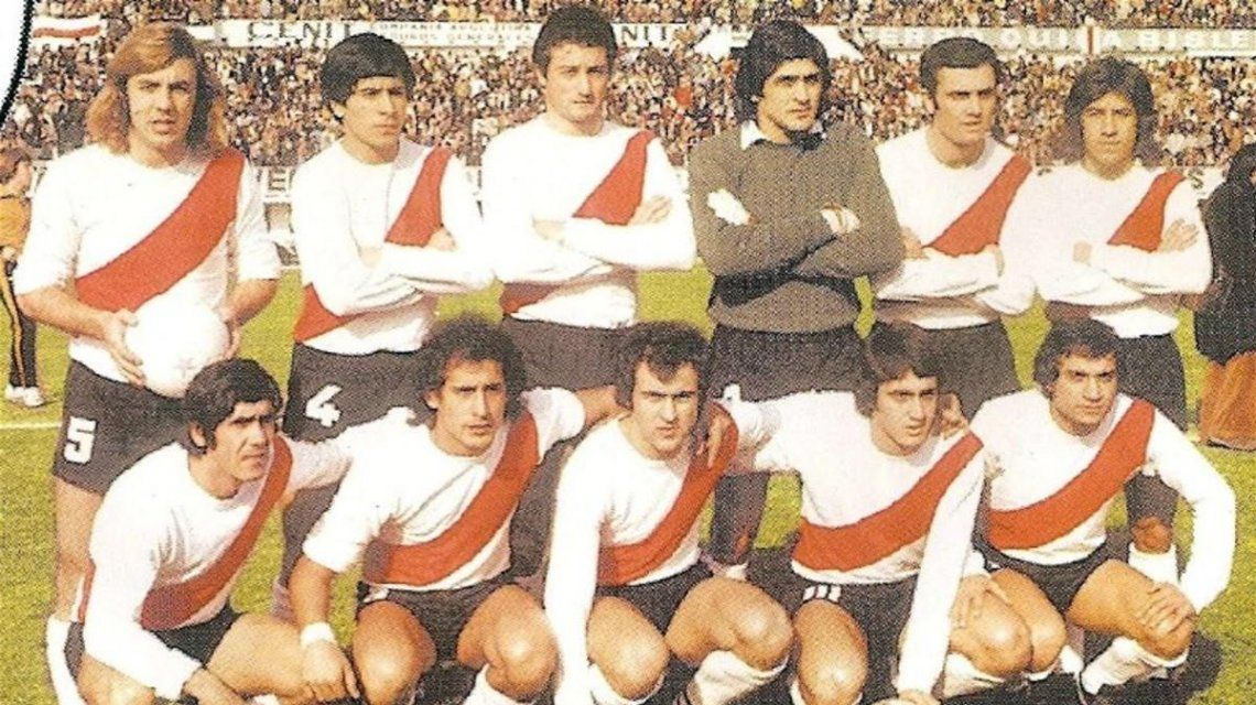River campeón 1975 con Pablo Comelles