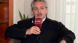 Alberto Fernández habló con C5N