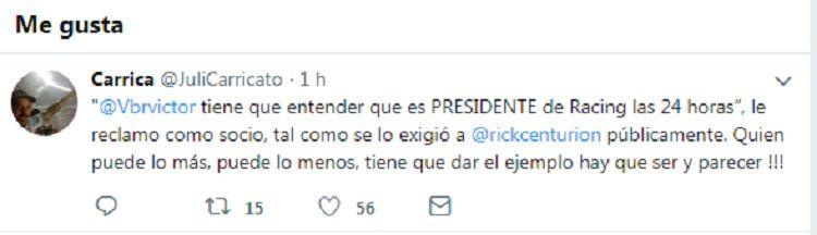 Otro round entre Centurión y Víctor Blanco: ahora en las redes sociales
