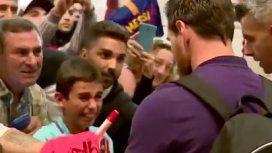 VIDEO: El llanto de un nene fanático de Newells al recibir un autógrafo de Messi