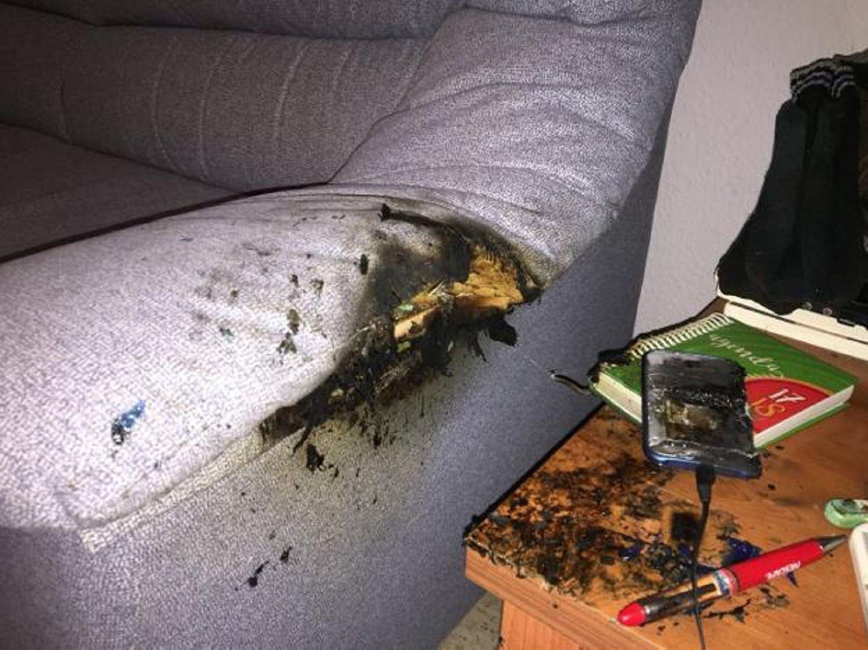 Un celular explotó mientras una familia entera dormía