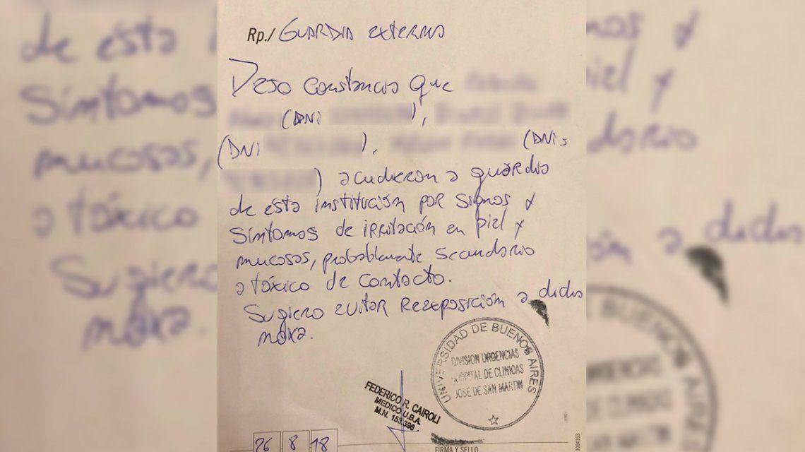 Irritación en piel y mucosas: el cuadro de las personas intoxicadas tras los allanamientos a CFK