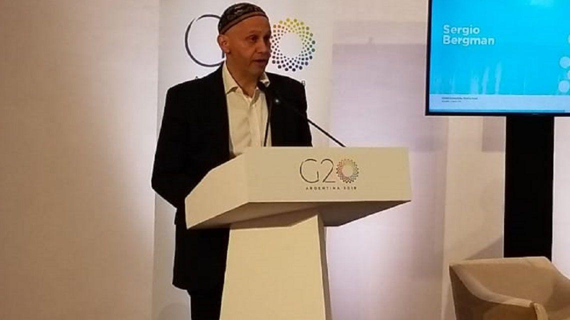 Sergio Bergman en la cumbre del G20: Argentina firmó el Acuerdo de París para cumplirlo