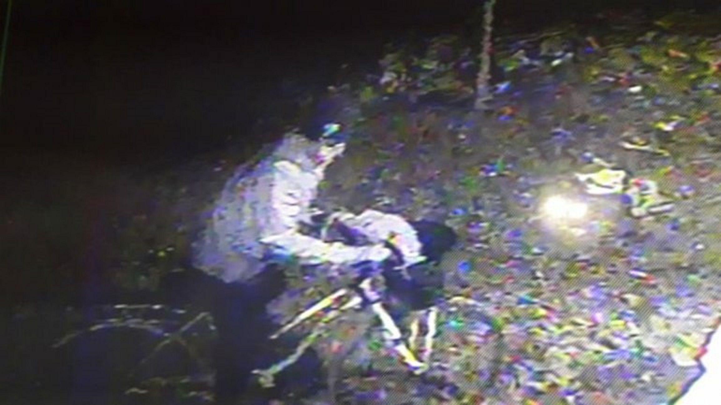 VIDEO: Intentó robar en una casa y el dueño le tiró el auto encima