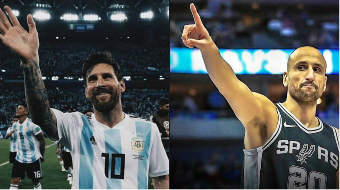 Lionel Messi y Manu Ginóbili