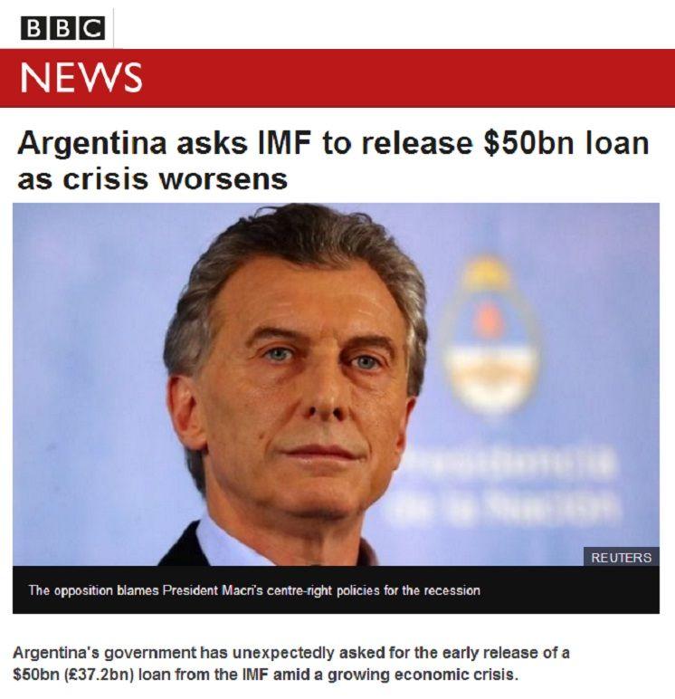 La BBC compara la situación actual de Argentina con el 2001