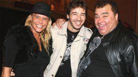 Nazarena Vélez, Aldo Osorio y la Tota Santillán cuando los dos primeros eran pareja
