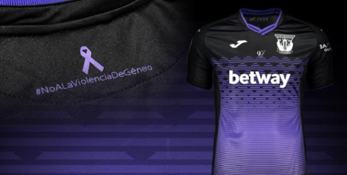 Leganés visitará al Real Madrid con una camiseta alusiva a la violencia de género