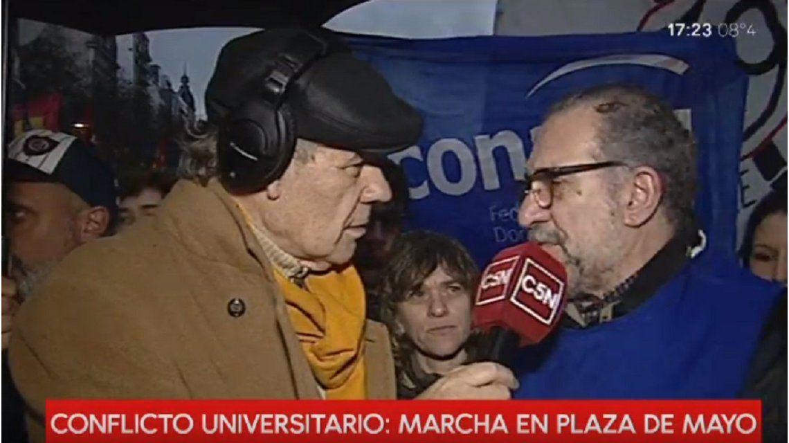 Los docentes y estudiantes universitarios marcharon al Palacio Pizzurno este jueves