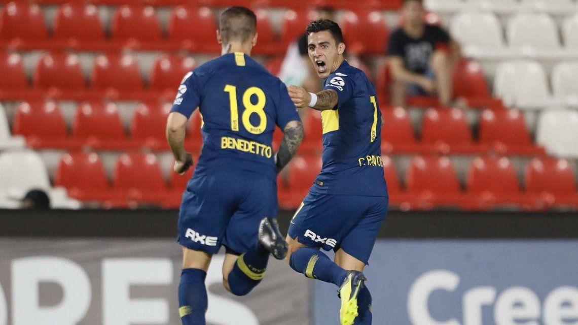 Benedetto volvió a jugar con la camiseta de Boca
