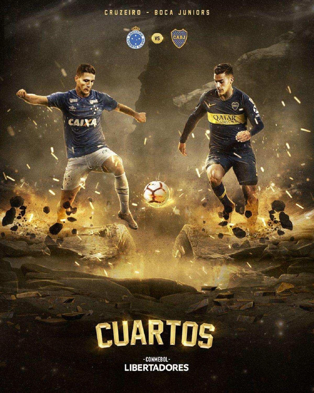 Cruzeiro y Boca se enfrentarán por los cuartos de final