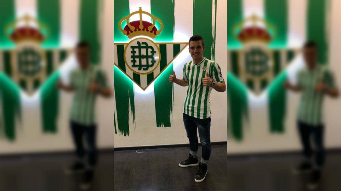 Lo Celso con la camiseta de Betis