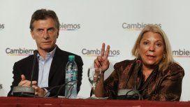 Mauricio Macri y Elisa Carrió
