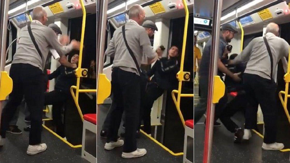 Lo quisieron tirar del tren  en movimiento porque escuchaba música muy fuerte