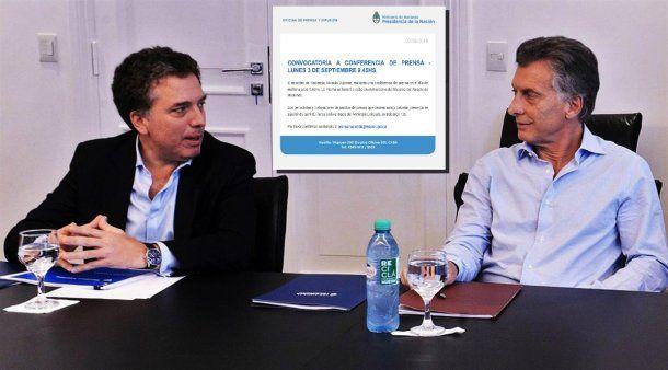 Dujovne, el comunicado y Macri<br>